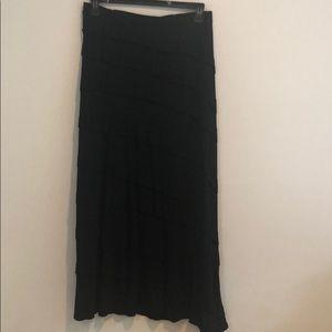 INC long black skirt